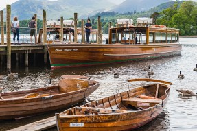 Derwent water rowing boats, Keswick, Lake District, Cumbria