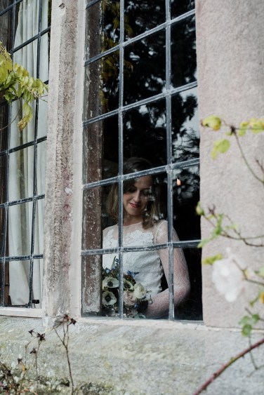 Looking in at the Bride at Askham Hall
