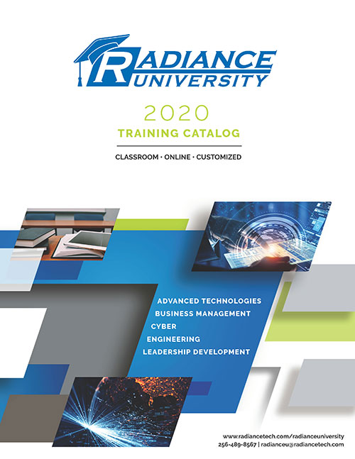 Radiance University course catalog cover
