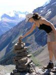 Shari Zisk mountain climbing