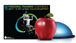 NSCA Personal Trainers Conference 2012