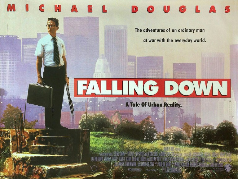 Radiant Circus Special Features - Independent film curator The Celluloid Sorceress talks about her film life: FALLING DOWN film poster.