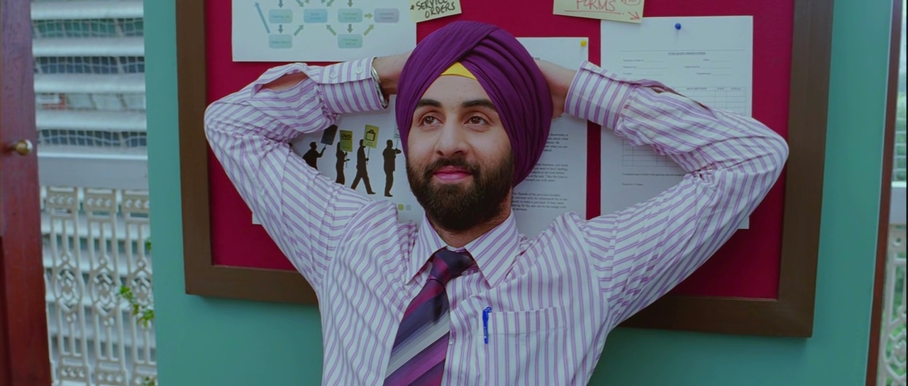 Turbans Seen On Screen: Ranbir Kapoor in ROCKET SINGH: SALESMAN OF THE YEAR.