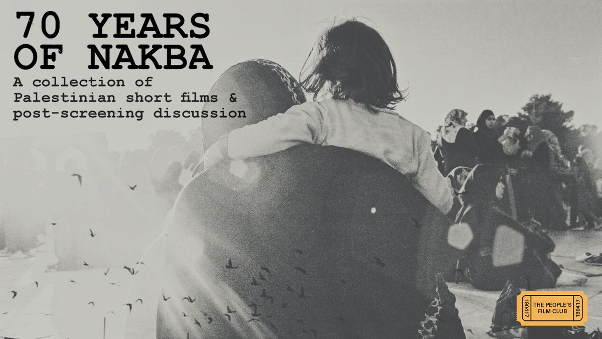 Films in London today: 70 YEARS OF NAKBA at Genesis Cinema (08 NOV).
