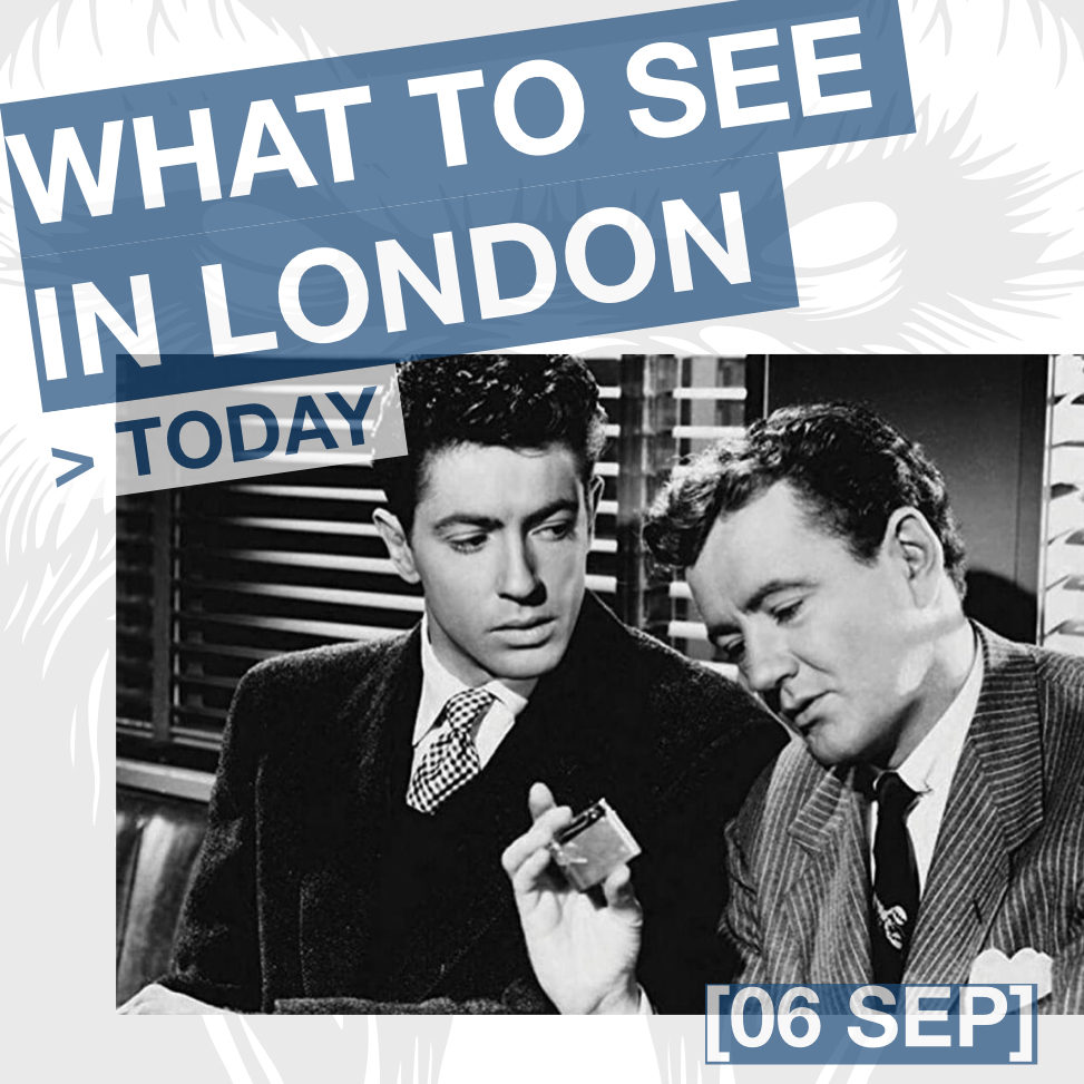 What to see in London this week: STRANGERS ON A TRAIN d. Alfred Hitchcock, 1951 at Olympic Cinema (06 SEP 12:00).