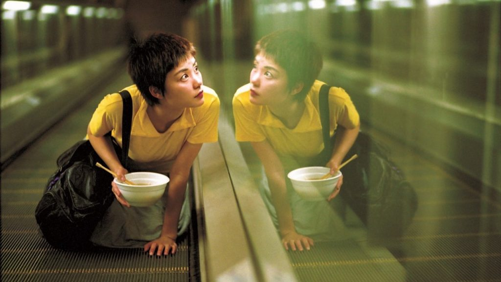 A film still from Wong Kar Wai's CHUNGKING EXPRESS.