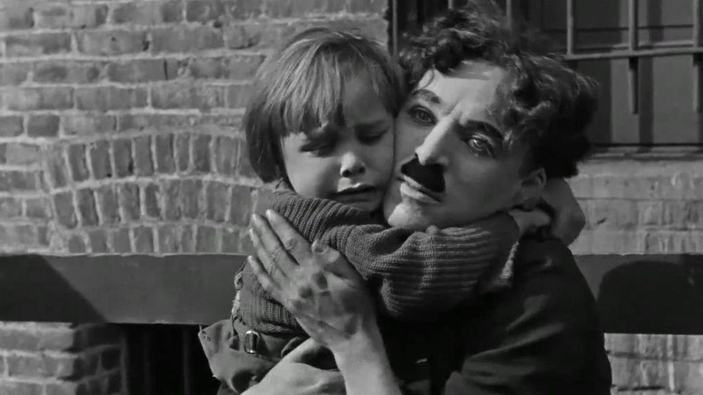 Film still from Charlie Chaplin's THE KID (1921)