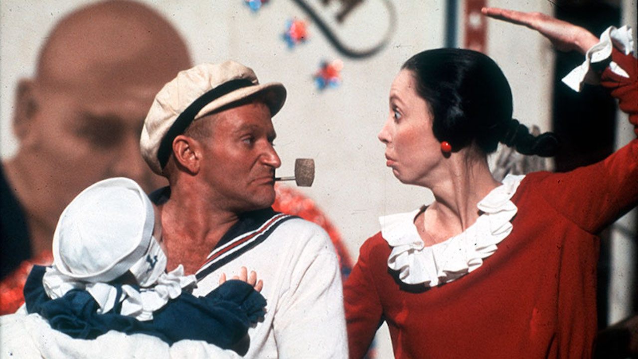This is a film still from POPEYE, showing at BFI Southbank today (29 JUNE 2021).