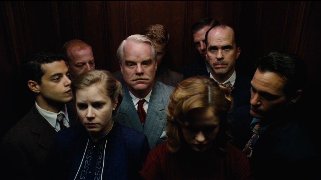 This is a film still from THE MASTER, screening at The Prince Charles (09 August).