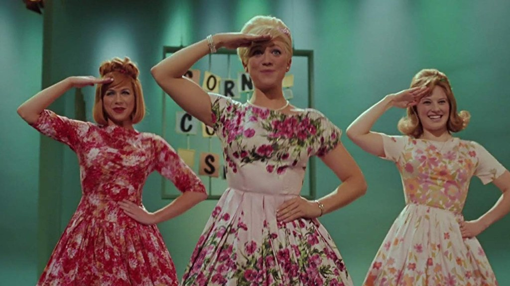 This is a film still from HAIRSPRAY (2007), presented by Musical Sunday at The Cinema Museum (07 NOV 2021).