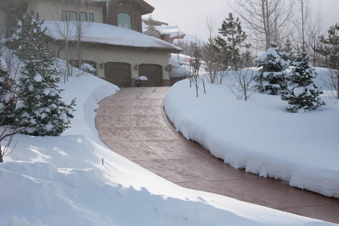 steep driveway snow melt utah