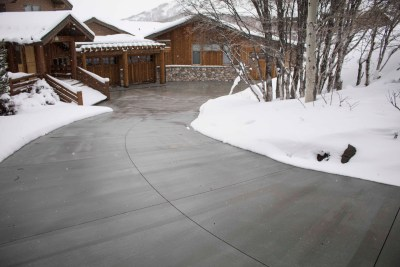 snow melting heated driveway utah