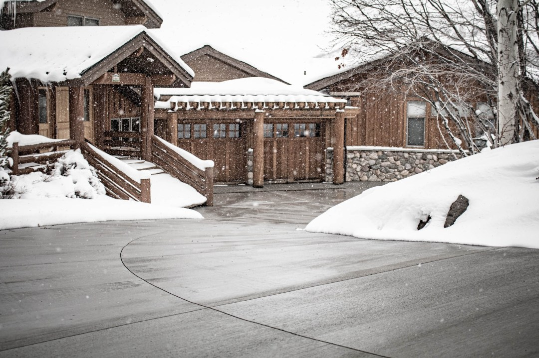 Heated driveway system in Park City Utah