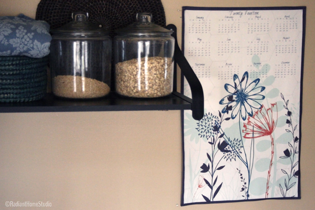 Tea Towel Calendar Wall Hanging | Radiant Home Studio