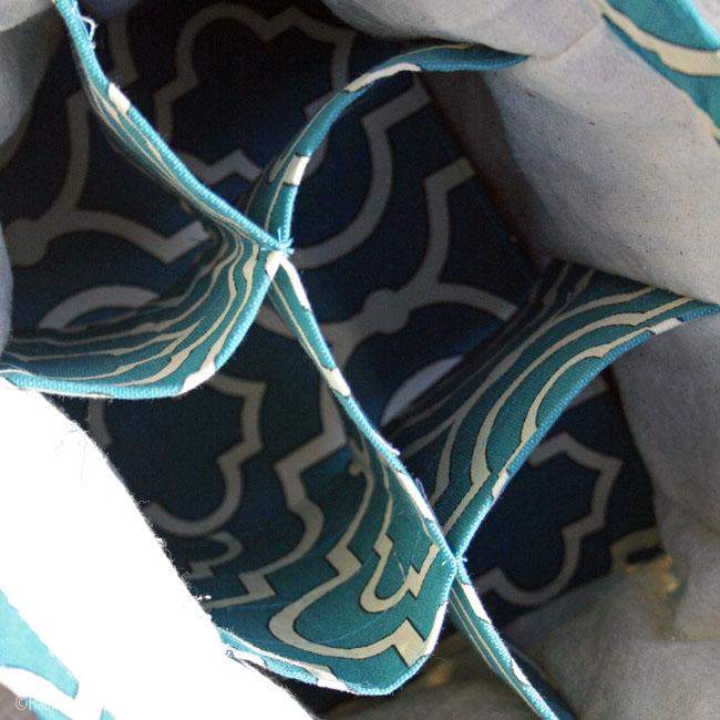 Water Bottle Tote Interior | Radiant Home Studio