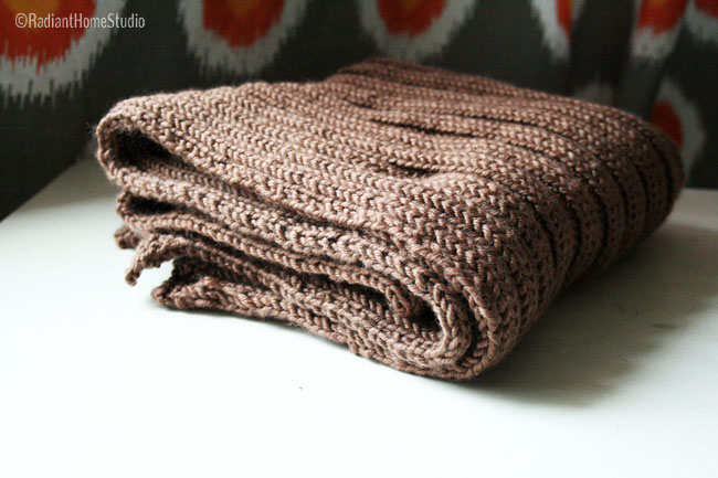 knitting a baby blanket | Radiant Home Studio