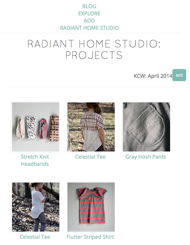 Share Your Sewing Projects at Kids Clothes Week | Radiant Home Studio