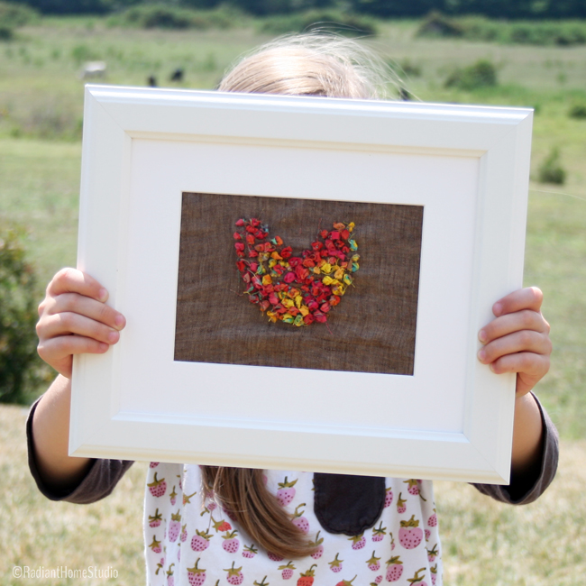 Fabric Scrap Embroidery {Heart Wall Art} | Radiant Home Studio