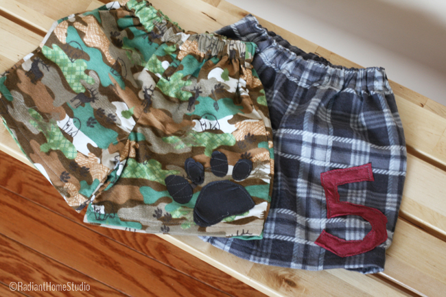 Pajama Shorts for Kids Clothes Week | Radiant Home Studio