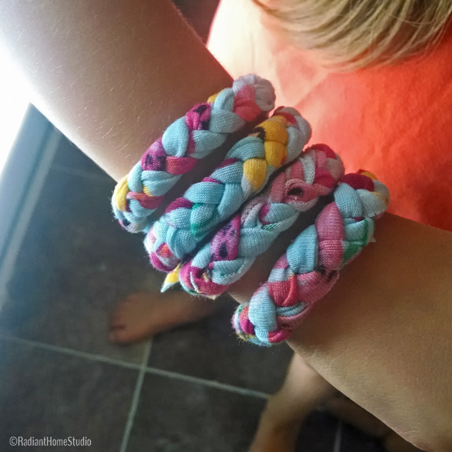 Braided Jersey Knit Bracelets | Radiant Home Studio