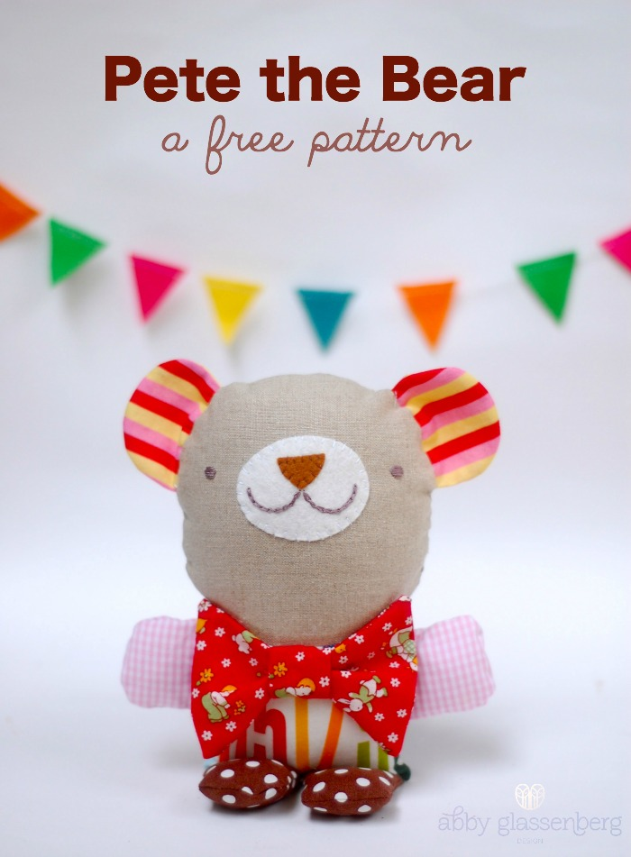Pete the Bear Pattern by Abby Glassenberg