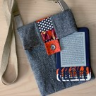Scrappy Striped Tablet Bag | Radiant Home Studio