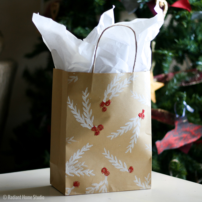 Printed & Stitched Handmade Gift Bag | Radiant Home Studio