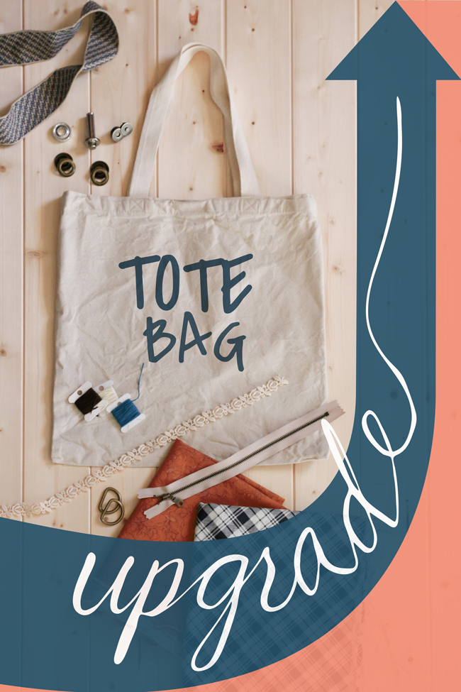 Tote Bag Upgrade Series   Radiant Home Studio - bag making techniques to transform plain tote bags into modern accessories.