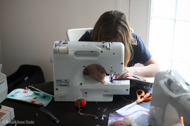 Preteen Girls Sewing Day  Handmade Style and Happy Home   Radiant Home Studio