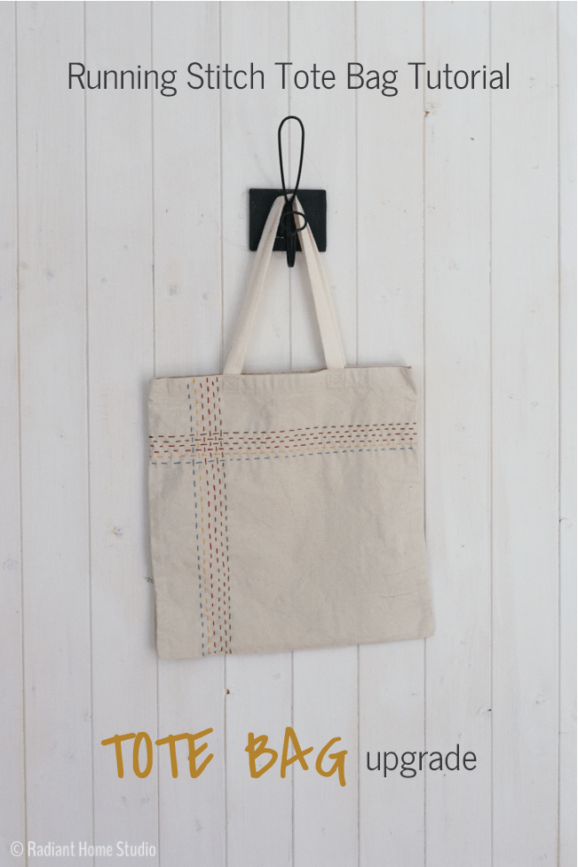 Autumn Running Stitch Tote Bag | Radiant Home Studio