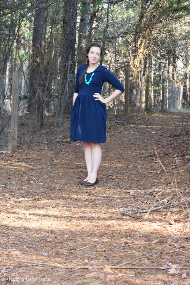 Blue Out and About Dress by Sew Caroline   Radiant Home Studio