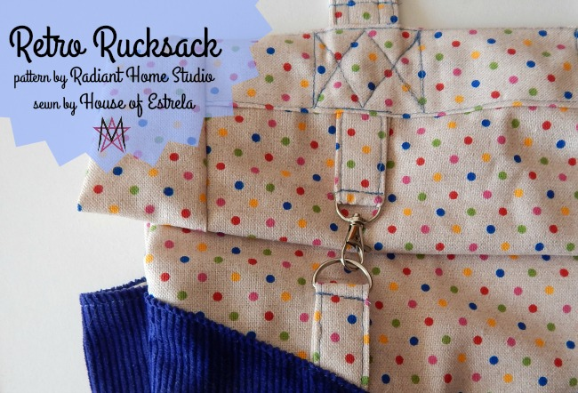 Retro Rucksack | House of Estrela | Radiant Home Studio Blog Tour