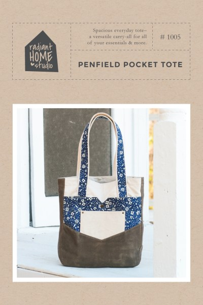 Penfield Pocket Tote sewing pattern | Radiant Home Studio