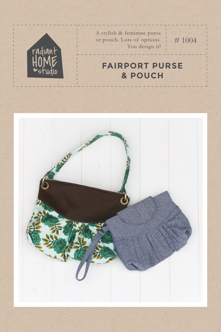 Fairport Purse & Pouch sewing pattern   Radiant Home Studio