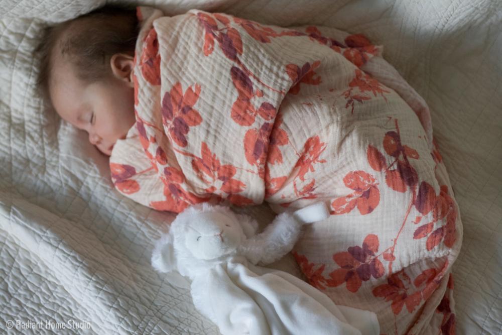 Botanical Baby Blanket with Spoonflower Swaddle Gauze   Radiant Home Studio