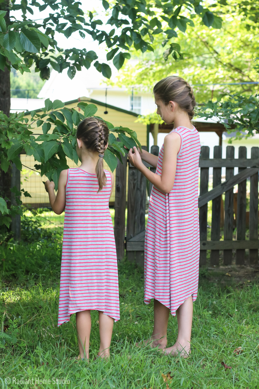 Striped Knit Dance Dresses | Handmade Girls Tank Dress | Radiant Home Studio
