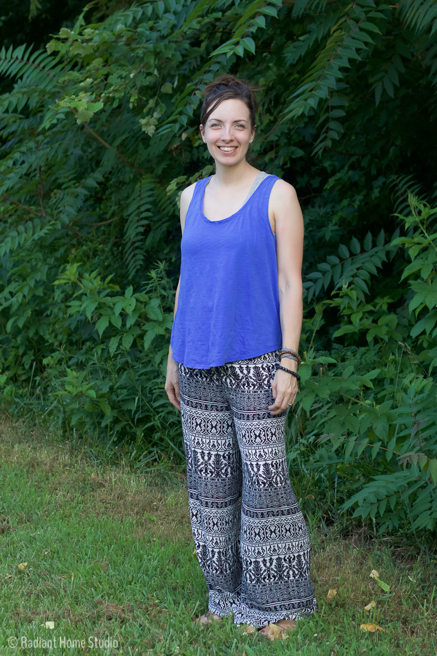 How to Make Wide-leg Rayon Pants with the Parkside Shorts Pattern by Sewcaroline | Palazzo Pants Hack | Radiant Home studio