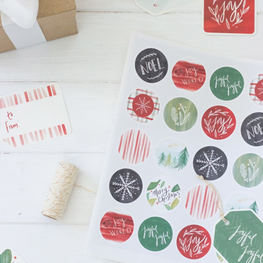 Classic Berry Printable Christmas Gift Tags, Stickers, & Art Prints   Radiant Home Studio