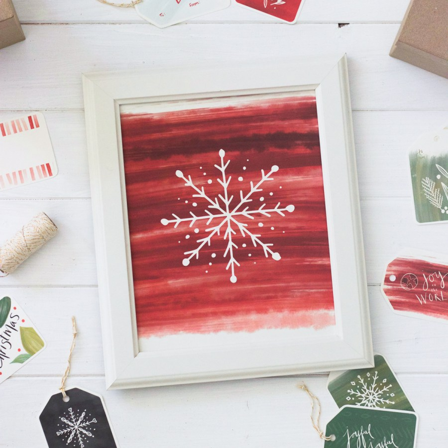 Classic Berry Printable Christmas Gift Tags, Stickers, & Art Prints | Radiant Home Studio