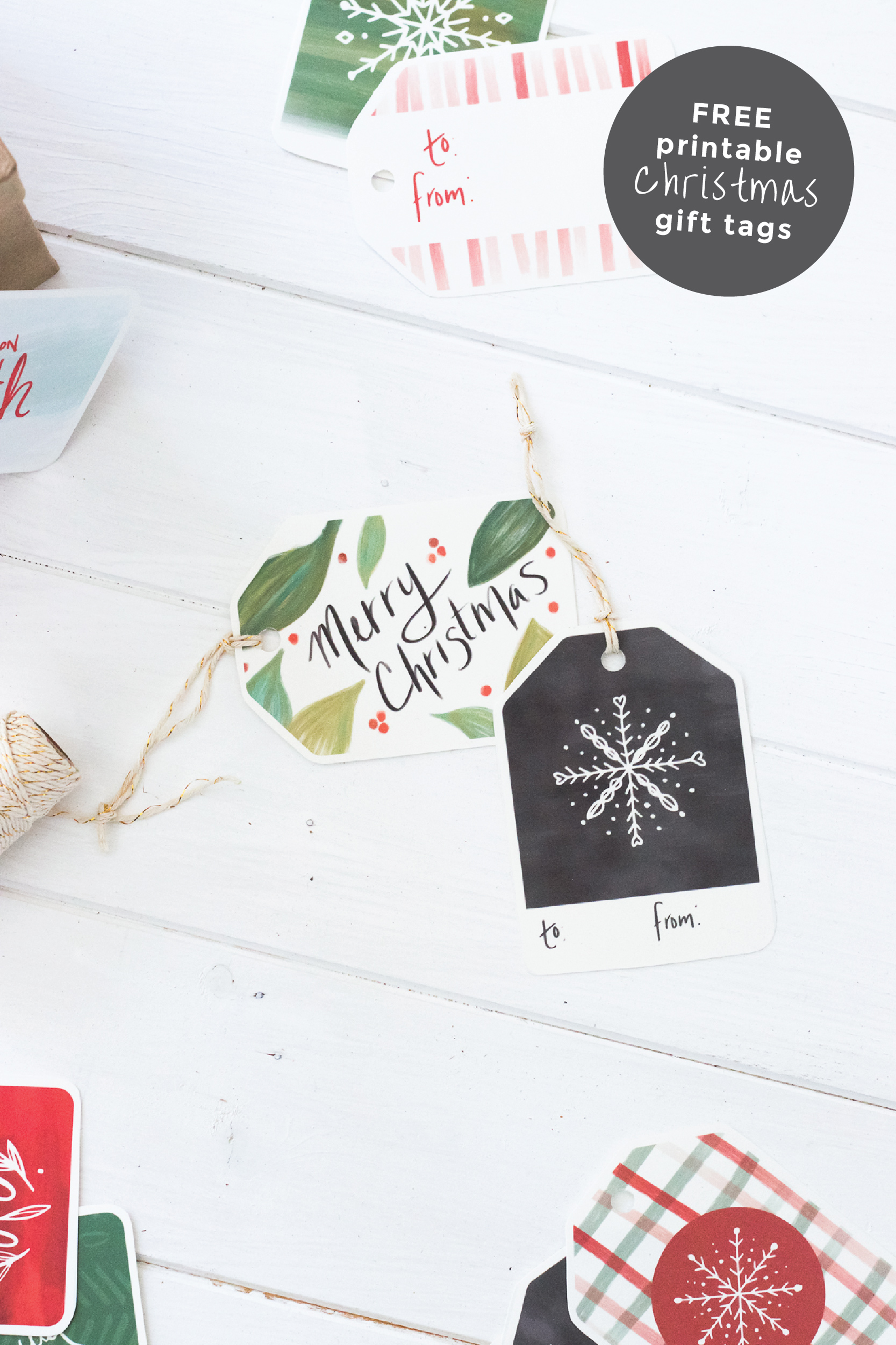 photograph regarding Free Printable Gift Tags Christmas known as Cost-free Printable Xmas Reward Tags for Attractive Reward