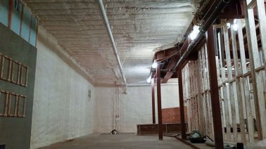 corrugated ceiling spray foam insulation - 2
