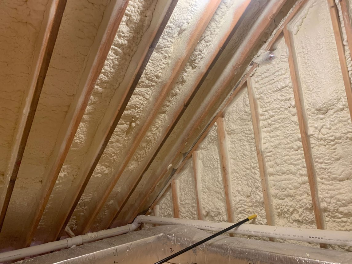 Successful application of closed-cell spray foam insulation