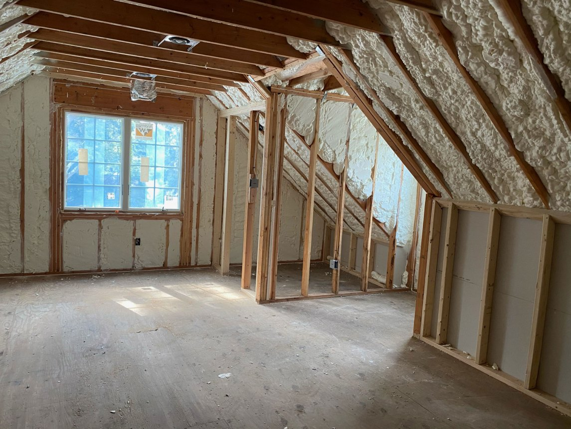 Open-cell spray foam application in Medford