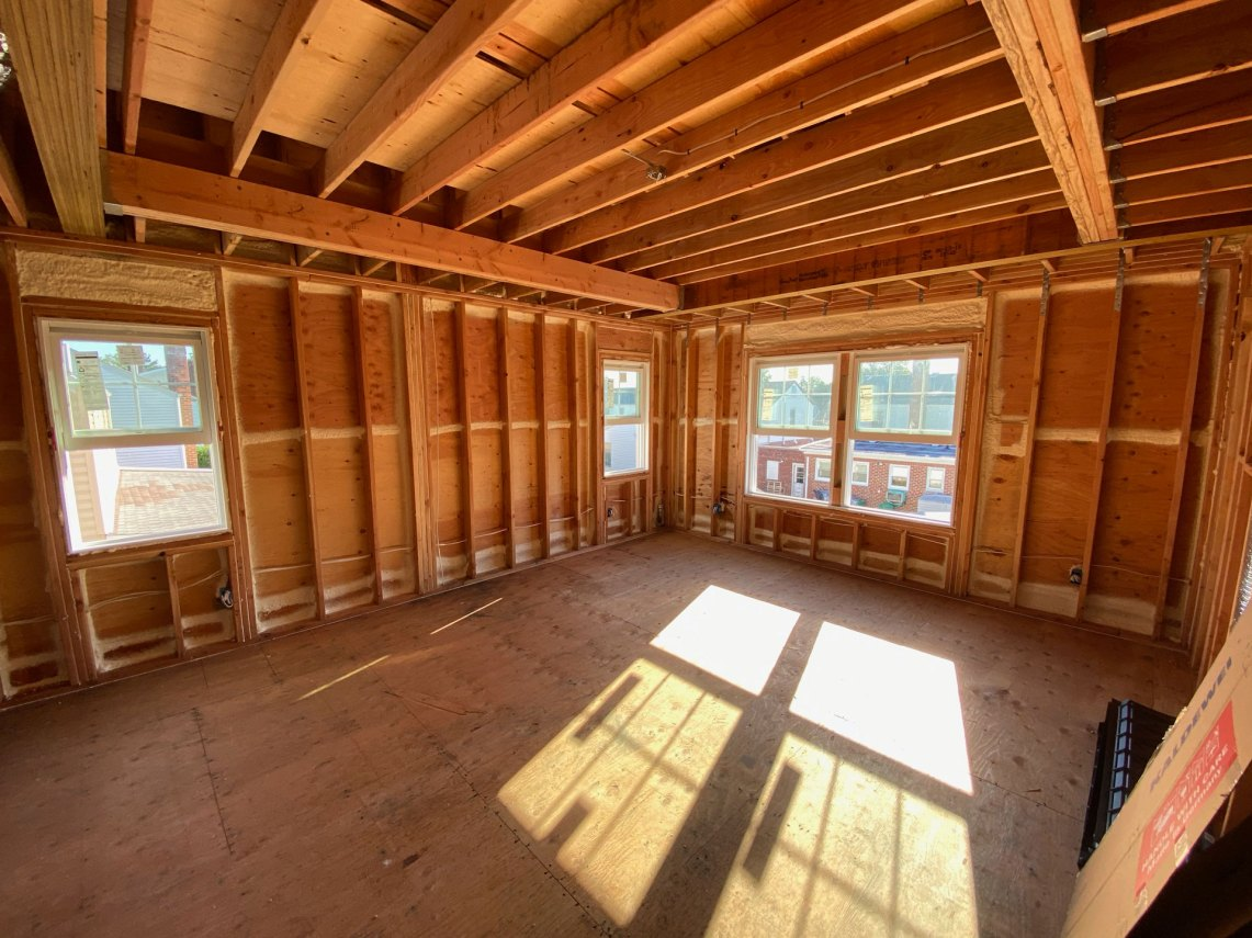 Air seal in interior of new home