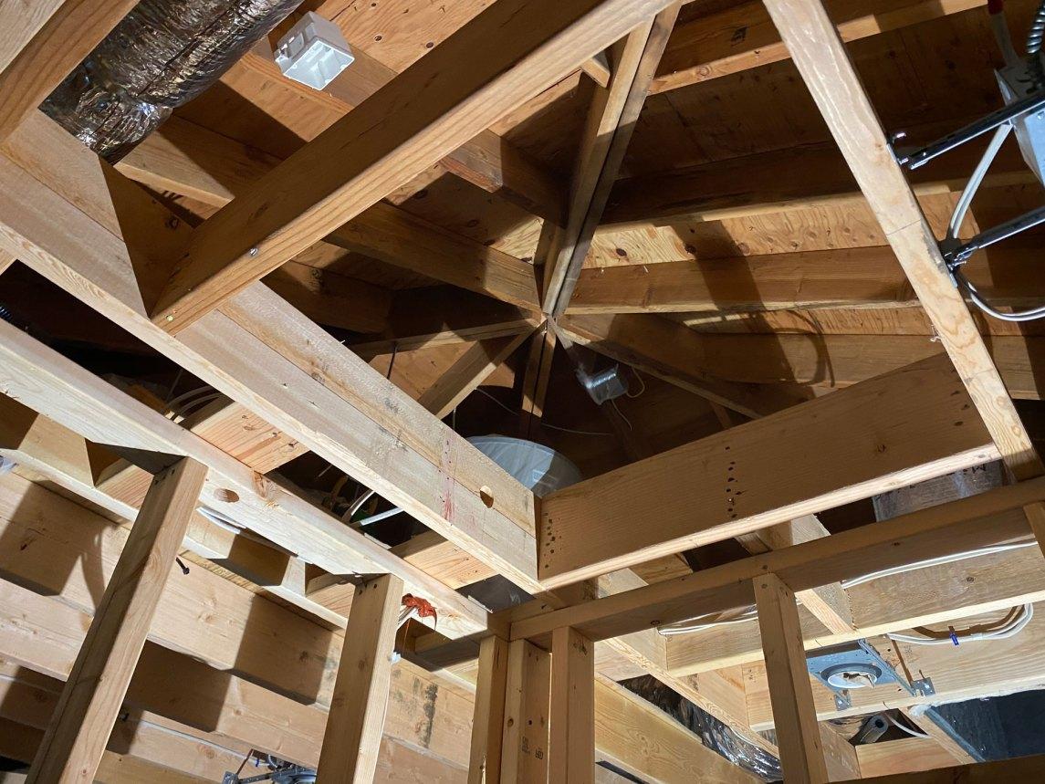 Hampton Bays insulation job ceiling before photo