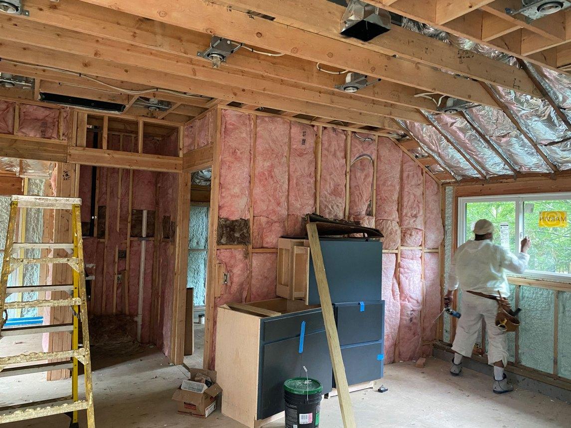 Hampton Bays insulation job during photo