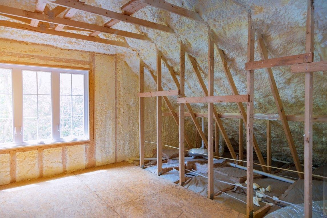 insulated attic interior