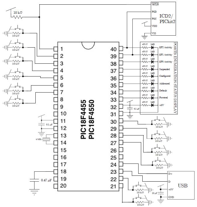 circuit diagram of keyboard
