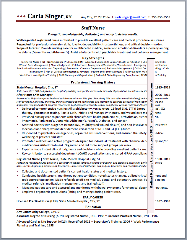 Second Career Resume Examples - Examples of Resumes