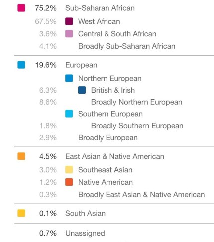 Robert's Ancestry Composition